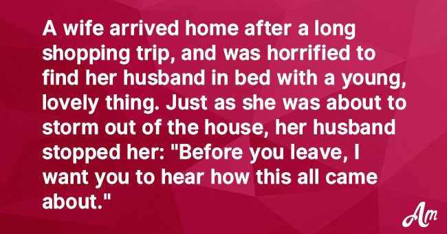 Joke: Wife Caught Her Husband in Bed with Another Woman