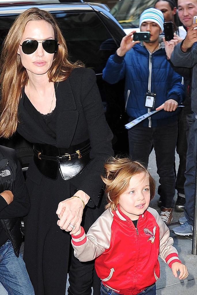 Angelina Jolie and Knox Jolie-Pitt visit FAO Schwarz on April 5, 2013 in New York City | Photo: Getty Images