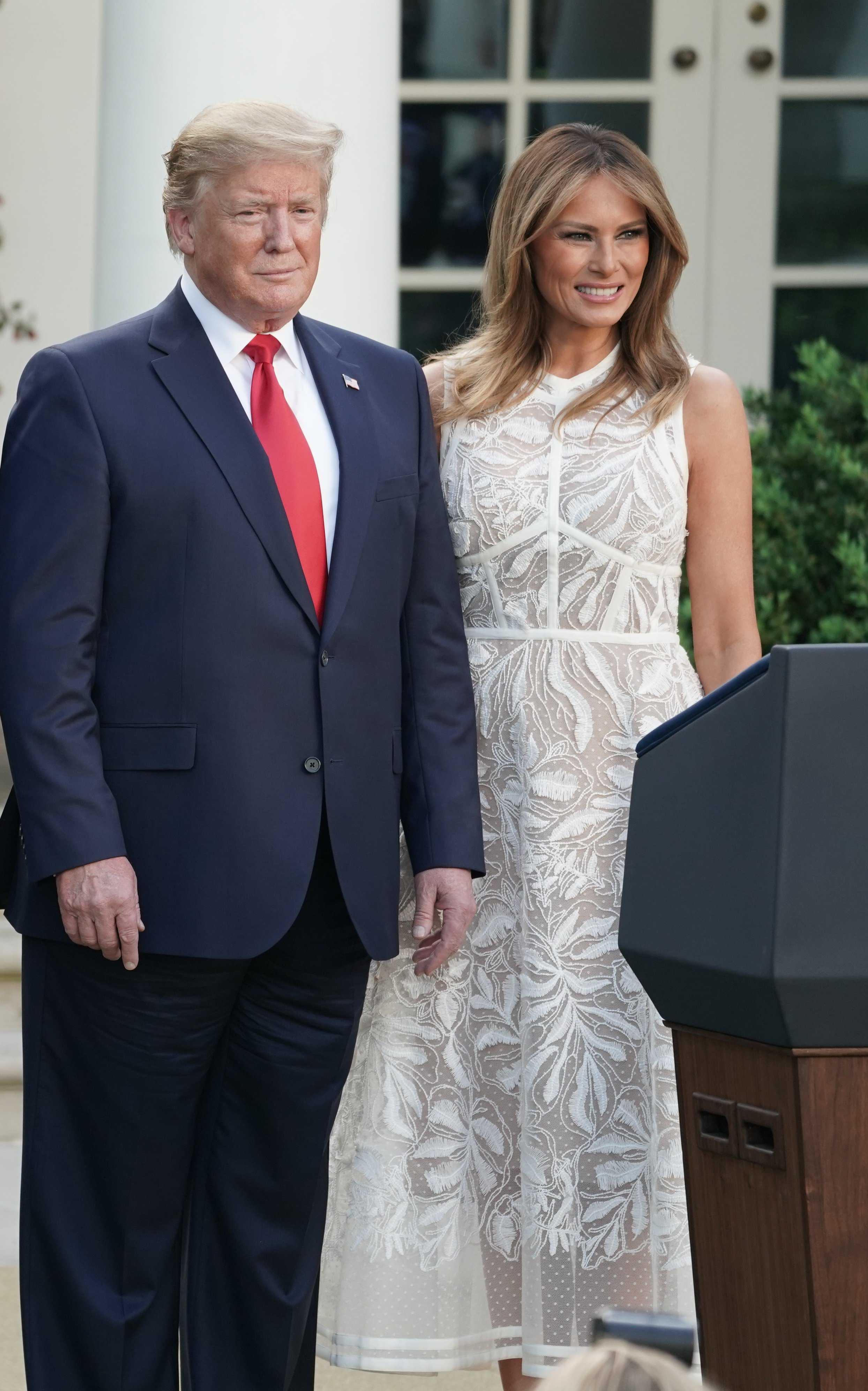 Donald Trump and Melania Trump in the Rose Garden at the White House | Photo: Getty Images