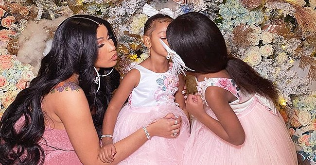 Cardi B's Daughter Kulture & Her Sister Look like Princesses on Christmas in Matching Dresses