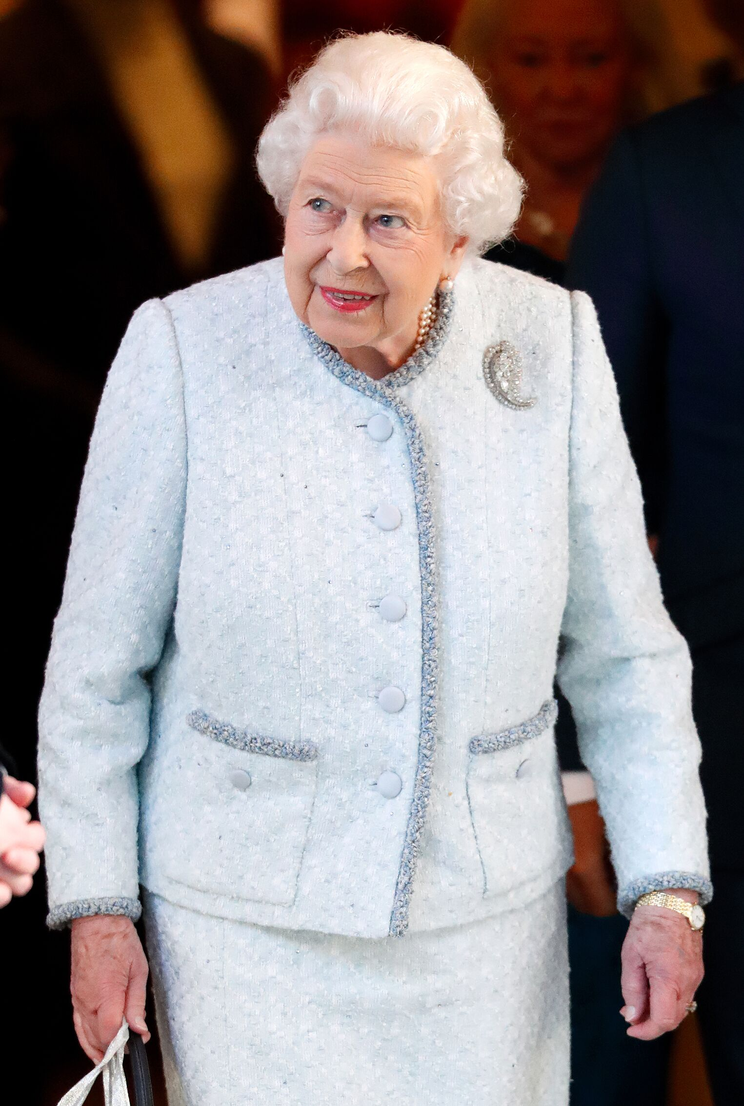 Queen Elizabeth II at a Christmas lunch on December 11, 2018, in London | Photo: Getty Images