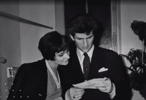 Eddy Mitchel épouse Françoise Lavit, juin 1961. Photo : Femme Actuelle