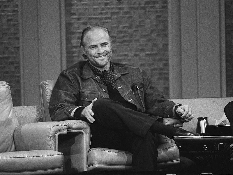 "Marlon Brando on the ""The Dick Cavett Show"" in 1973 after having won the Oscar for ""The Godfather"" 