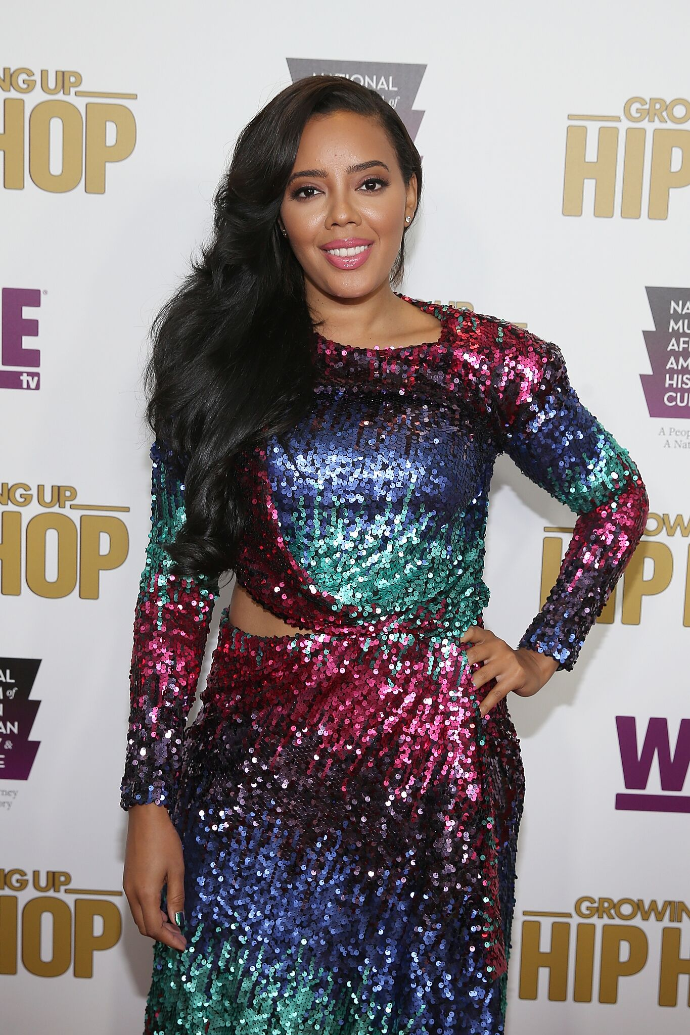 """Cast member Angela Simmons attends WE tv's celebration of """"Growing Up Hip Hop"""" Season 3 at the Smithsonian Institute National Museum of African American History and Culture l Getty Images"""