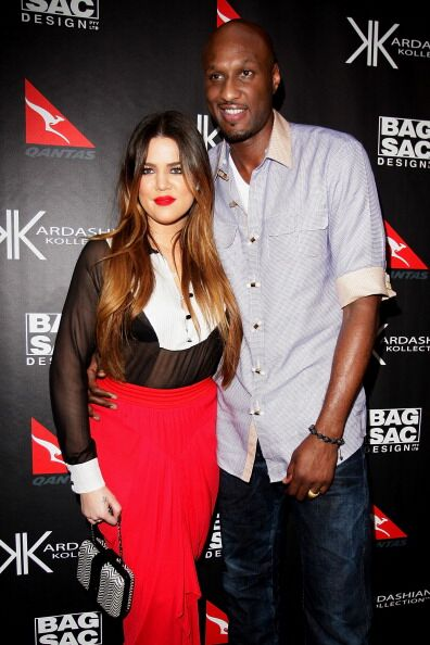 Khloe Kardashian Odom and Lamar Odom arrive at the Kardashian Kollection Handbag launch at Hugo's on November 2, 2011 in Sydney, Australia. | Source: Getty Images