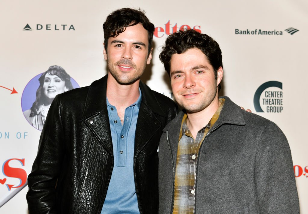 """Blake Lee and Ben Lewis at the opening of Center Theatre Group's """"Falsettos"""" at Ahmanson Theatre on April 17, 2019 in Los Angeles, California. 