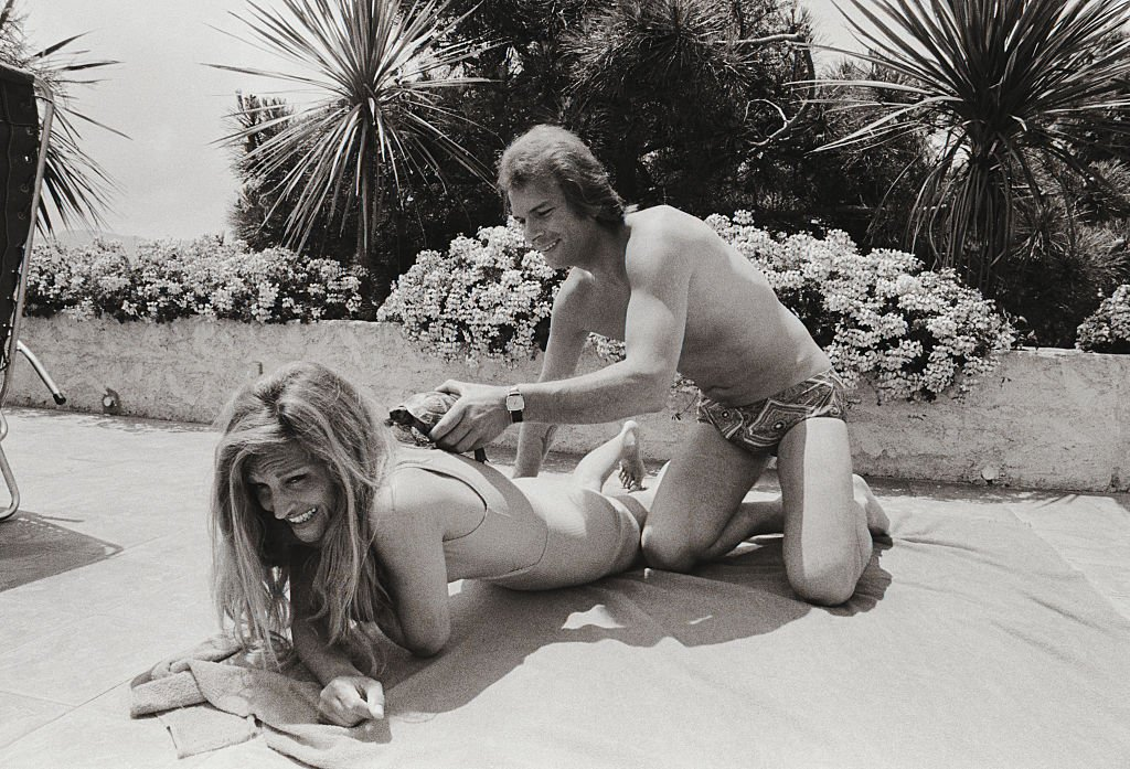 Dalida et son compagnon Richard Chanfray en 1973. | Photo : Getty Images