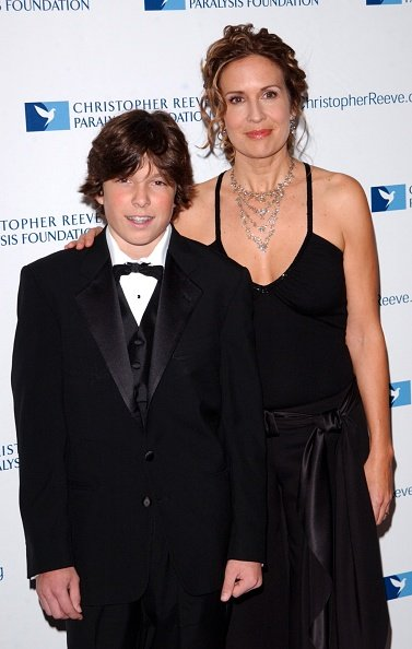 Dana Reeve and Will Reeve at the Marriott Marquis, New York City, undated image.   Photo: Getty Images