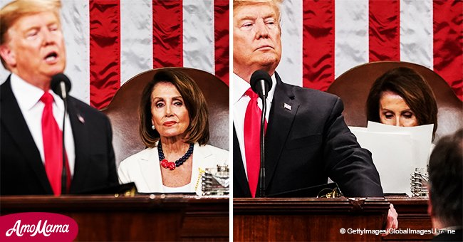 Pelosi Managed to Steal the Show with Her Face Even Though She Was Sitting Behind Trump at SOTU