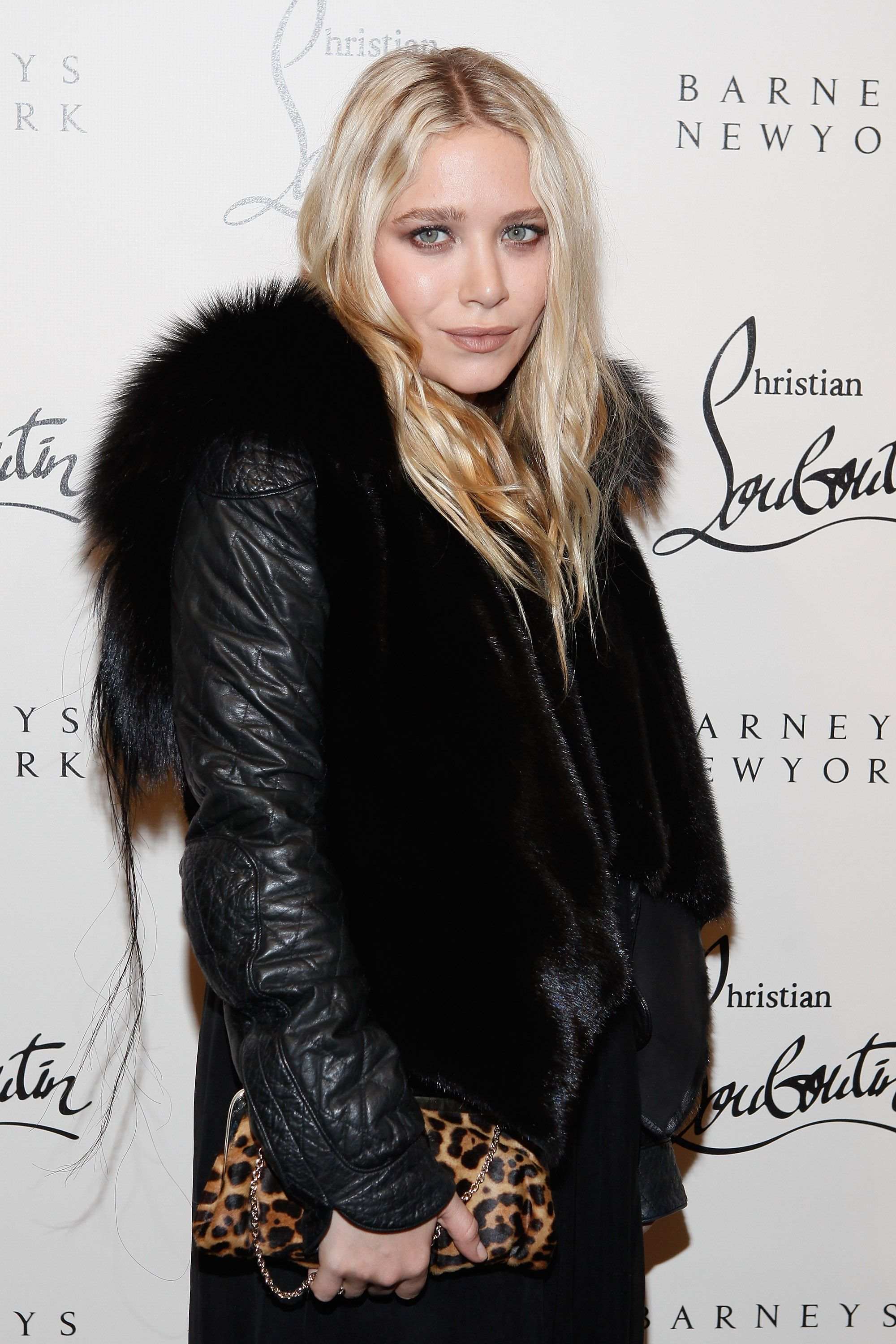 Mary-Kate Olsen during the Christian attends the Louboutin Cocktail party at Barneys New York on November 1, 2011 in New York City. | Source: Getty Images