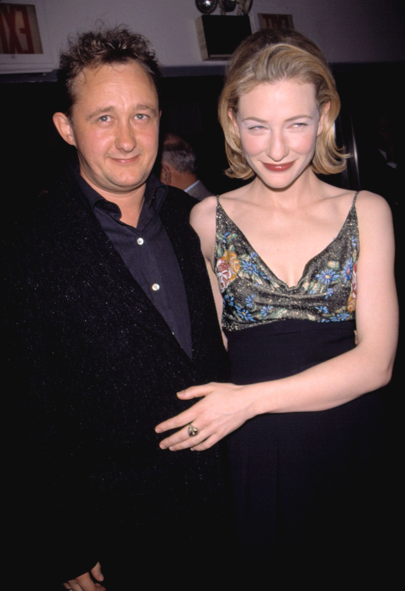 """Cate Blanchett with husband Andrew Upton at the premiere of """"Elizabeth"""" in 1998 