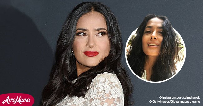 Salma Hayek Shows off Her Gray Hair Revealing She's 'Proud' of It