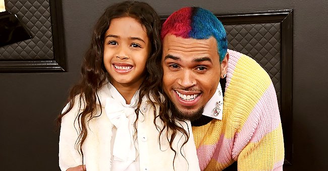 Chris Brown's Daughter Strikes Pose with Mom and Sister in Matching Layered Dresses