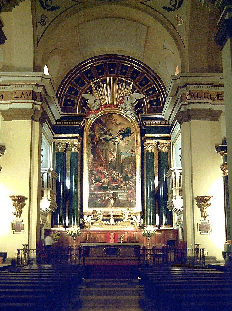 Iglesia de San Ginés en Madrid.   Fuente: Wikimedia Commons