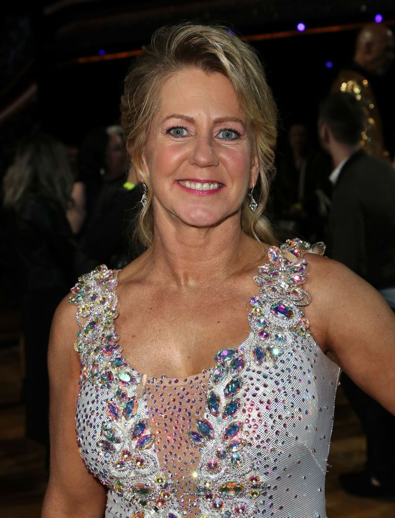 """Tonya Harding poses at ABC's """"Dancing with the Stars: Athletes"""" Season 26 - Finale on May 21, 2018 in Los Angeles, California 