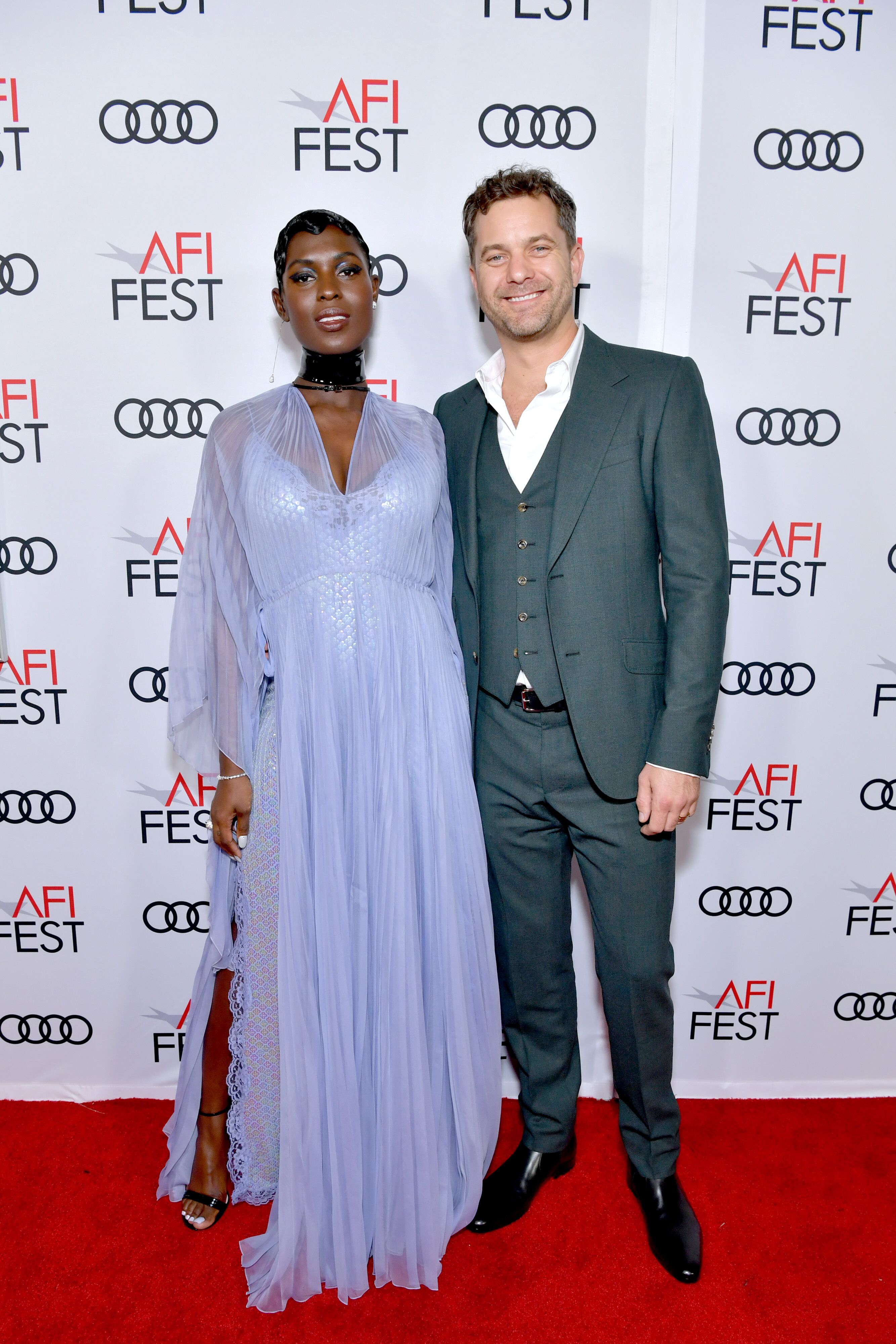 "Jodie Turner-Smith and Joshua Jackson attend the ""Queen & Slim"" Premiere at AFI FEST 2019 presented by Audi at the TCL Chinese Theatre on November 14, 2019 in Hollywood, California. 