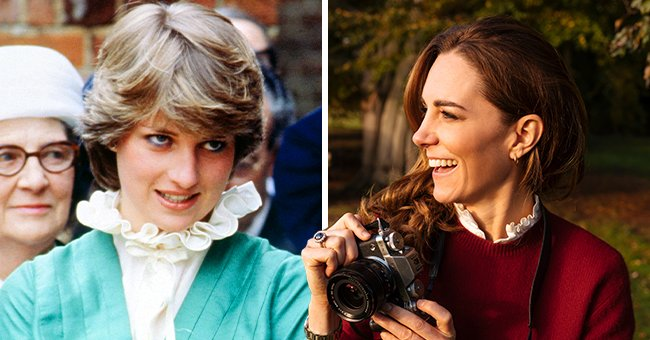 Kate Middleton Wore a White Pie-Crust Collar as a Nod to Princess Diana in This Recent Photo