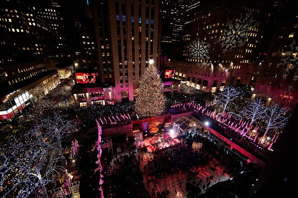 A view of atmosphere at the 86th Annual Rockefeller Center Christmas Tree Lighting Ceremony at Rockefeller Center on November 28, 2018 in New York City | Photo: Getty Images