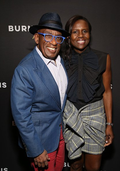 "Al Roker and Deborah Roberts attend the Broadway Opening Night Arrivals for ""Burn This"" at the Hudson Theatre on April 15, 2019 
