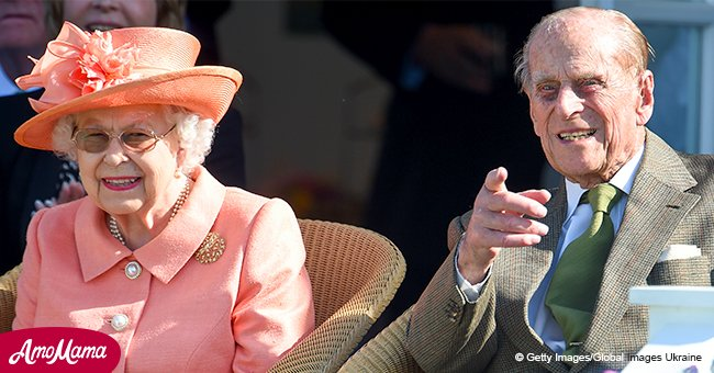 Queen Elizabeth looks charming in a peach outfit alongside Prince Philip at Royal event