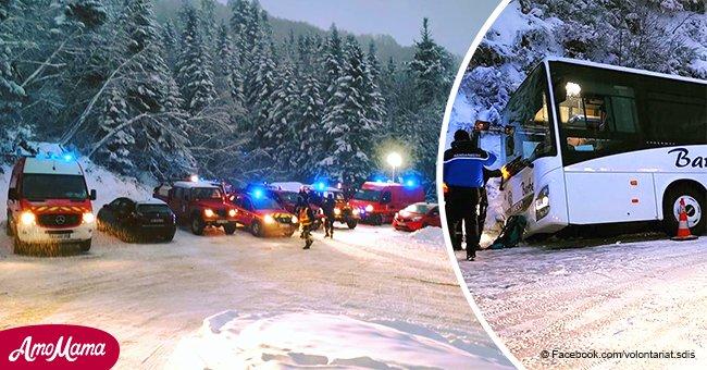 Le danger de routes enneigées : un bus avec 36 enfants d'une école primaire s'est retourné en Ariège