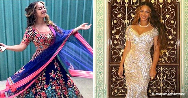 Beyoncé commands attention with new seductive photos in sophisticated gowns from India trip