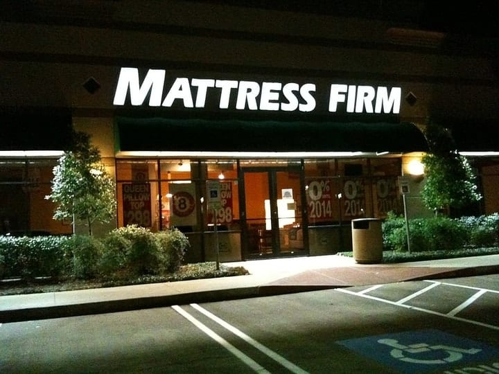 Image Credits: Mattress Firm/Wikimedia Commons