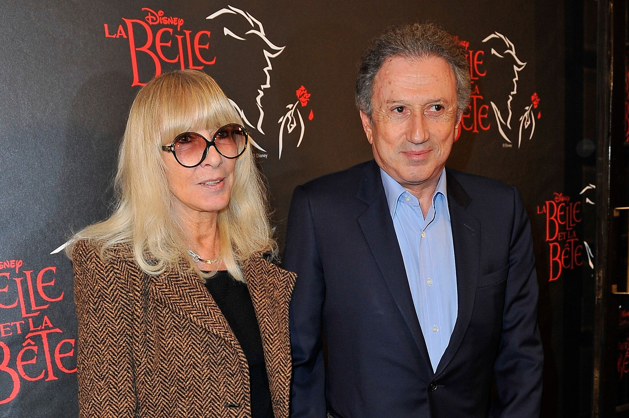 Michel Drucker en compagnie de sa femme l Source: Getty Images