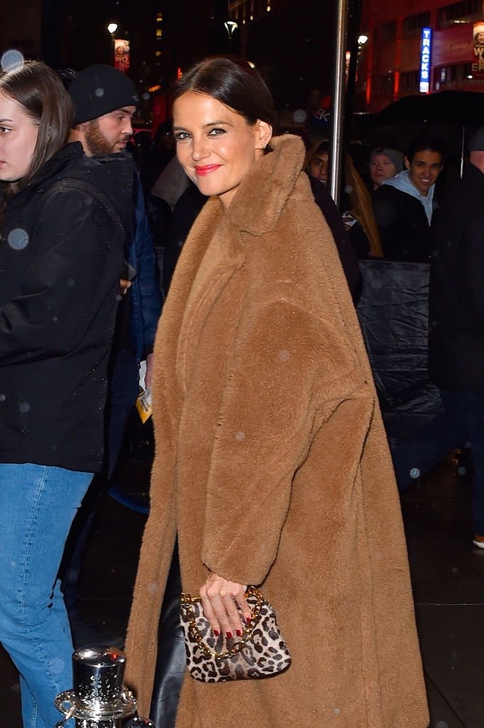 Katie Holmes at Madison Square Garden to attend the Jingle Ball in New York City on December 13, 2019   Photo: Getty Images