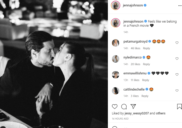 """A screenshot of """"Dancing With The Stars"""" stars Val Chmerkovskiy and his wife Jenna Johnson, looking gorgeous on Instagram   Photo: Instagram/jennajohnson"""