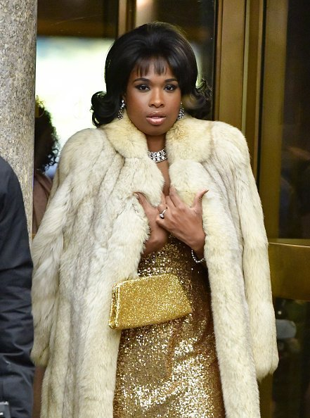 """Jennifer Hudson seen filming on location for """"Respect"""" on November 8, 2019 