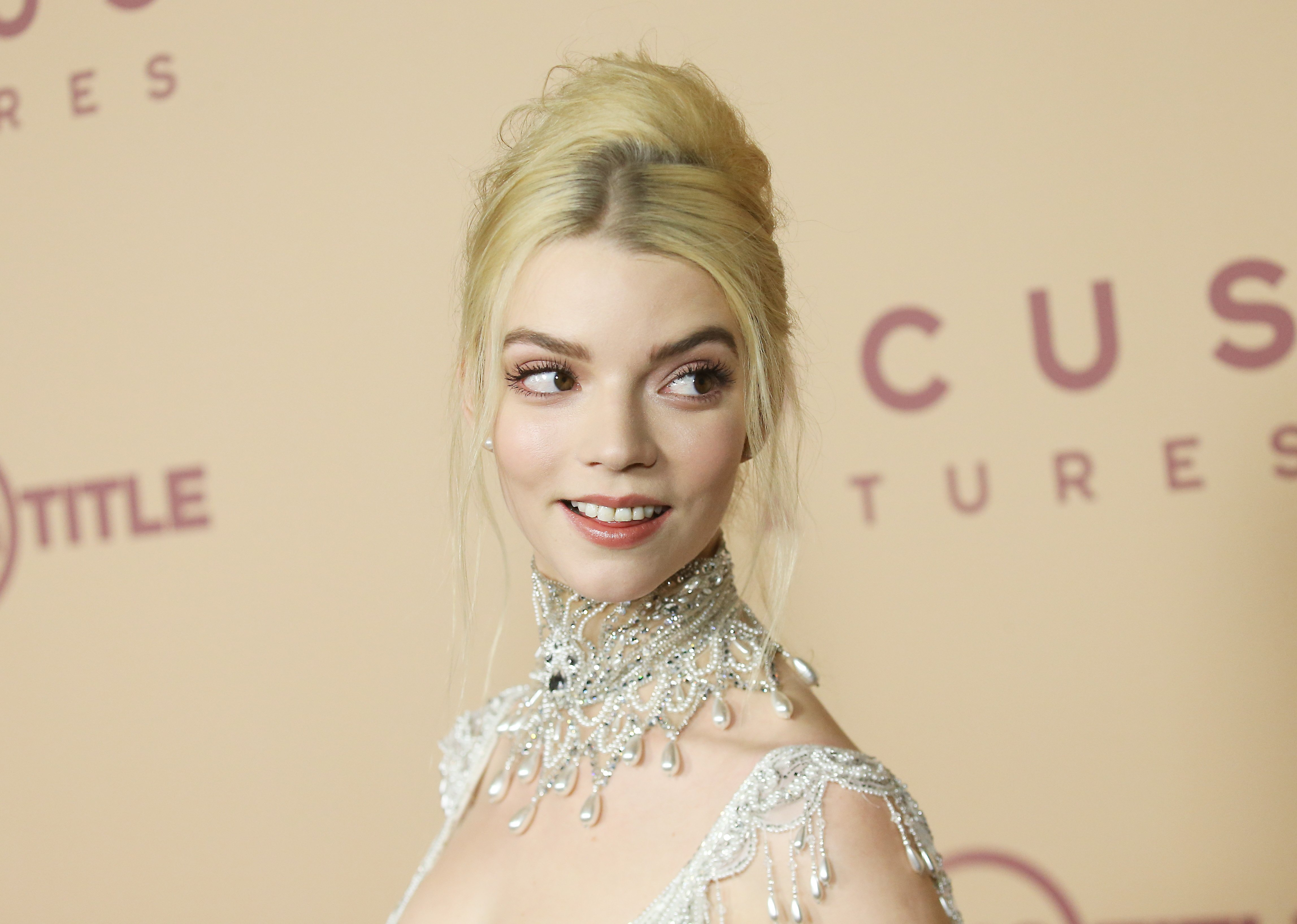"""Anya Taylor-Joy pictured at the Los Angeles premiere of Focus Features' """"Emma."""" 2020, California. 
