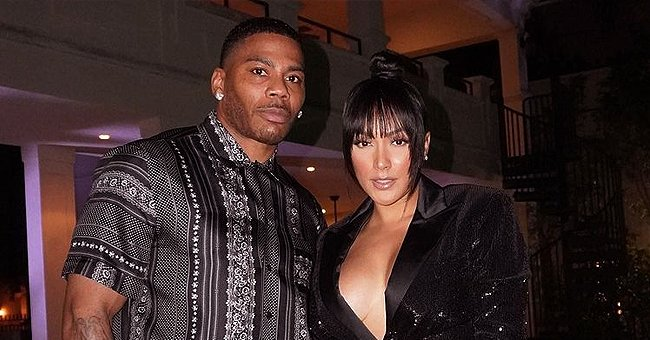 Nelly's Girlfriend Shantel Jackson Leaves Little to the Imagination in a Black Bra and Magenta Top