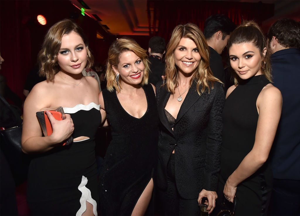 Natasha Bure, Candice Cameron-Bure, Lori Loughlin and Isabella Giannulli attend the Netflix Golden Globes after party | Getty Images