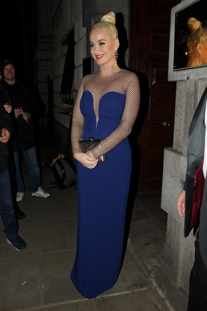 Katy Perry is seen leaving the Banqueting House after attending the British Asian Trust gala dinner on February 04, 2020, in London, England |Source: Getty Images (Photo by GORC/GC Images)