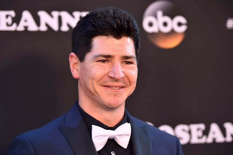 "Michael Fishman attending the premiere of ""Roseanne"" in Burbank, California, in March 2018. 