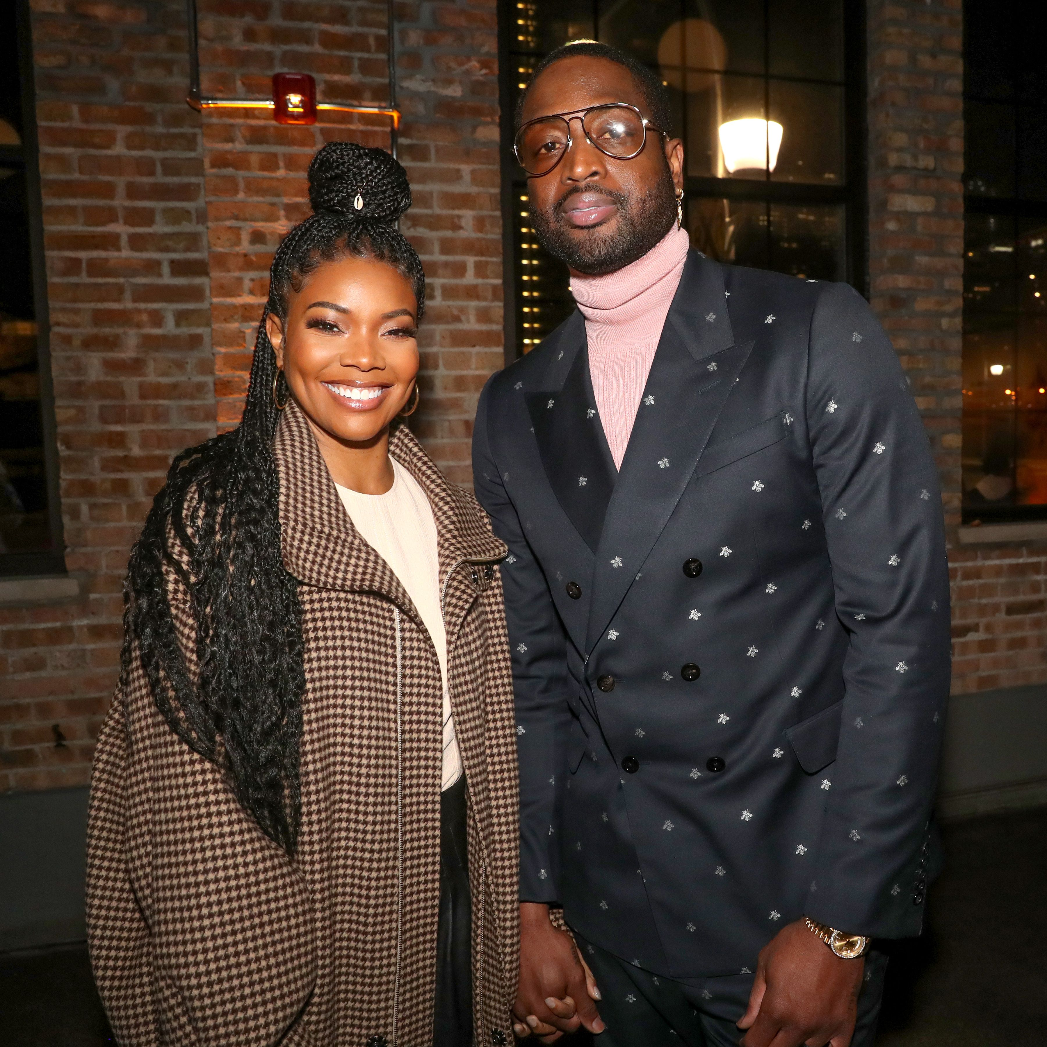 """Gabrielle Union and Dwyane Wade during """"Stance Spades At NBA All-Star 2020"""" at City Hall on February 15, 2020 in Chicago, Illinois. 