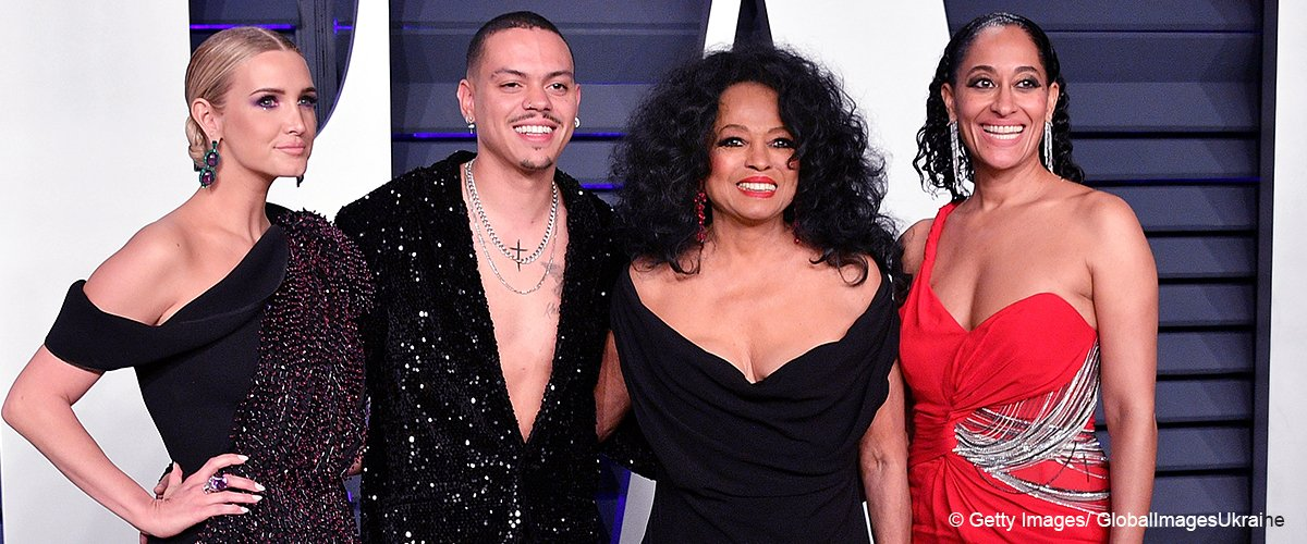 Diana Ross Looks Age-Defying in a Low-Cut Black Dress after Skipping the Oscars with Her Kids