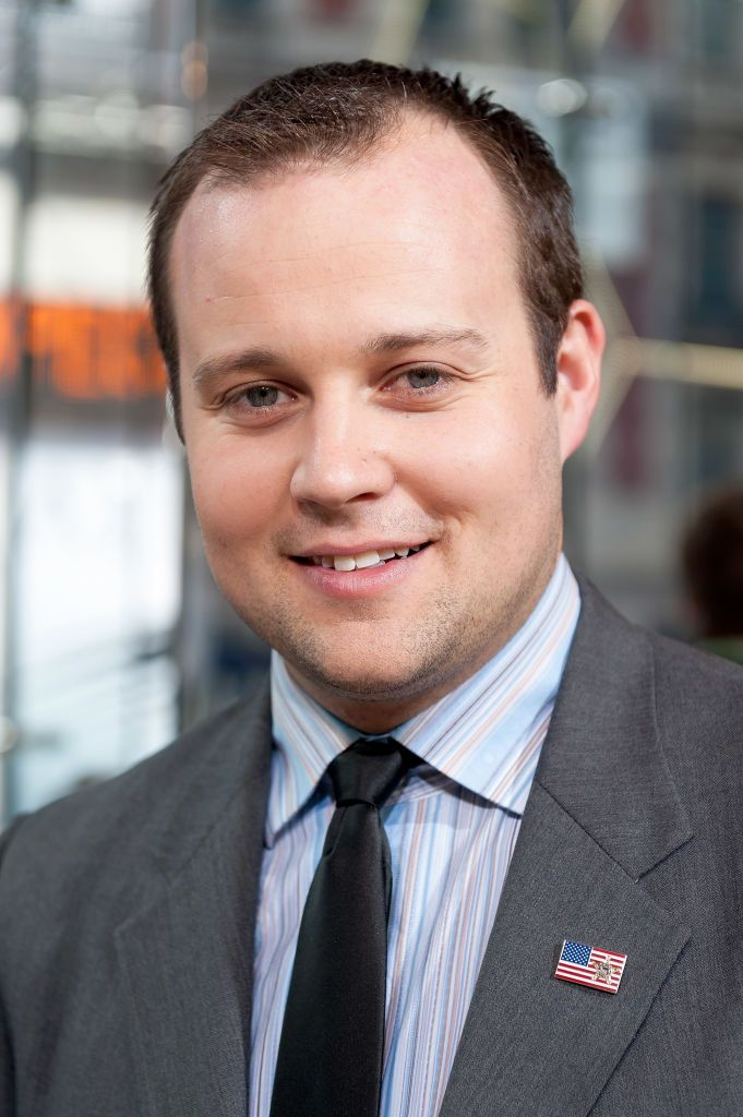 """Former """"19 Kids and Counting"""" star Josh Duggar during a visit to """"Extra"""" at their New York studios at H&M in Times Square, New York City 