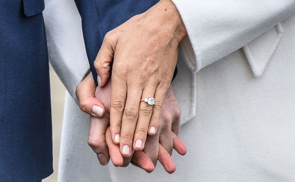 A close up of Meghan Markle's engagement ring | Source: Getty Images