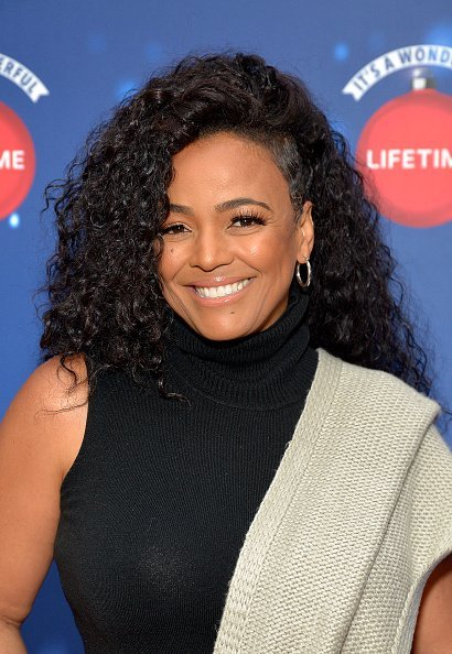 "Kim Fields attends Say ""Santa!"" with It's A Wonderful Lifetime photo experience on November 09, 2019 