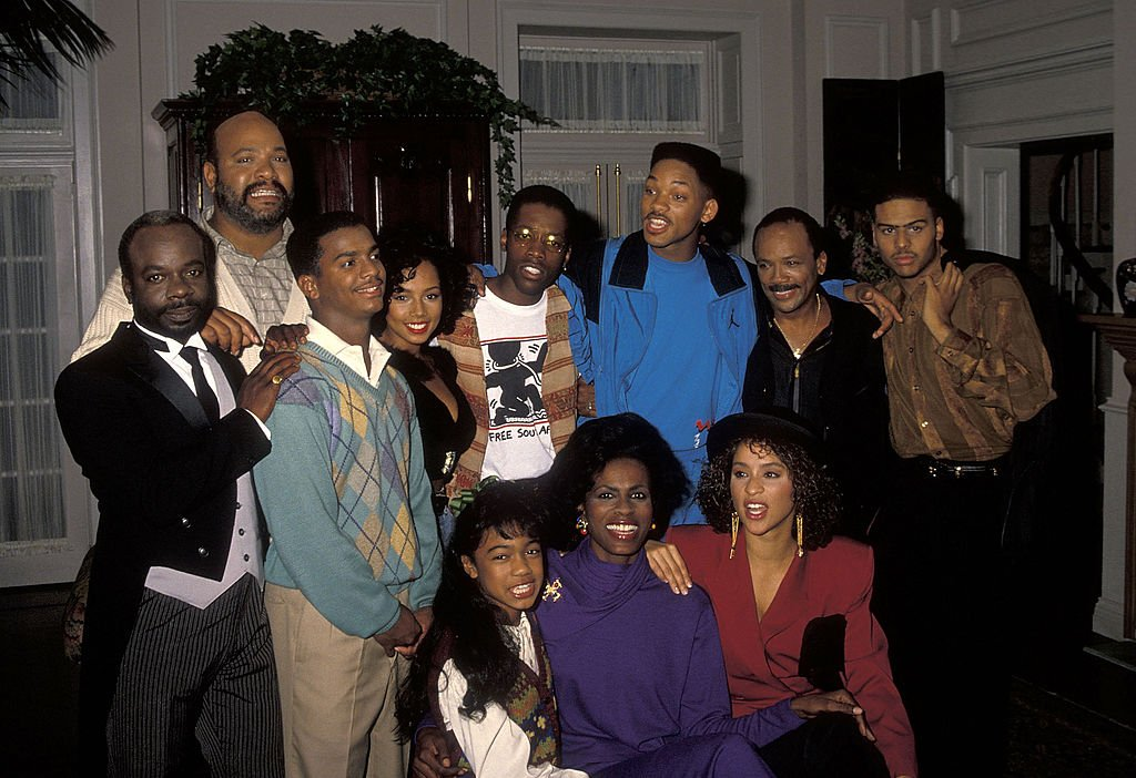 "Will Smith and other cast members take a break from filming ""The Fresh Prince of Bel-Air"" on October 20, 1990. 