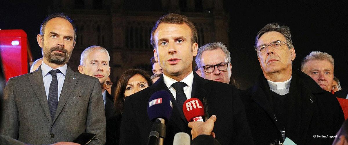 Emmanuel Macron a enregistré le discours lundi soir, mais il a été détruit