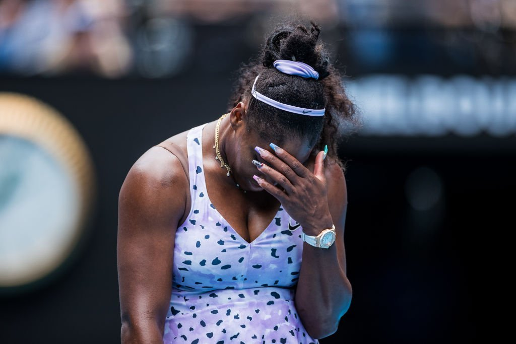 JANUARY 24: Serena Williams of the United States reacts to a point in her third round match against Qiang Wang of China on day five of the 2020 Australian Open at Melbourne Park | Photo: Getty Images