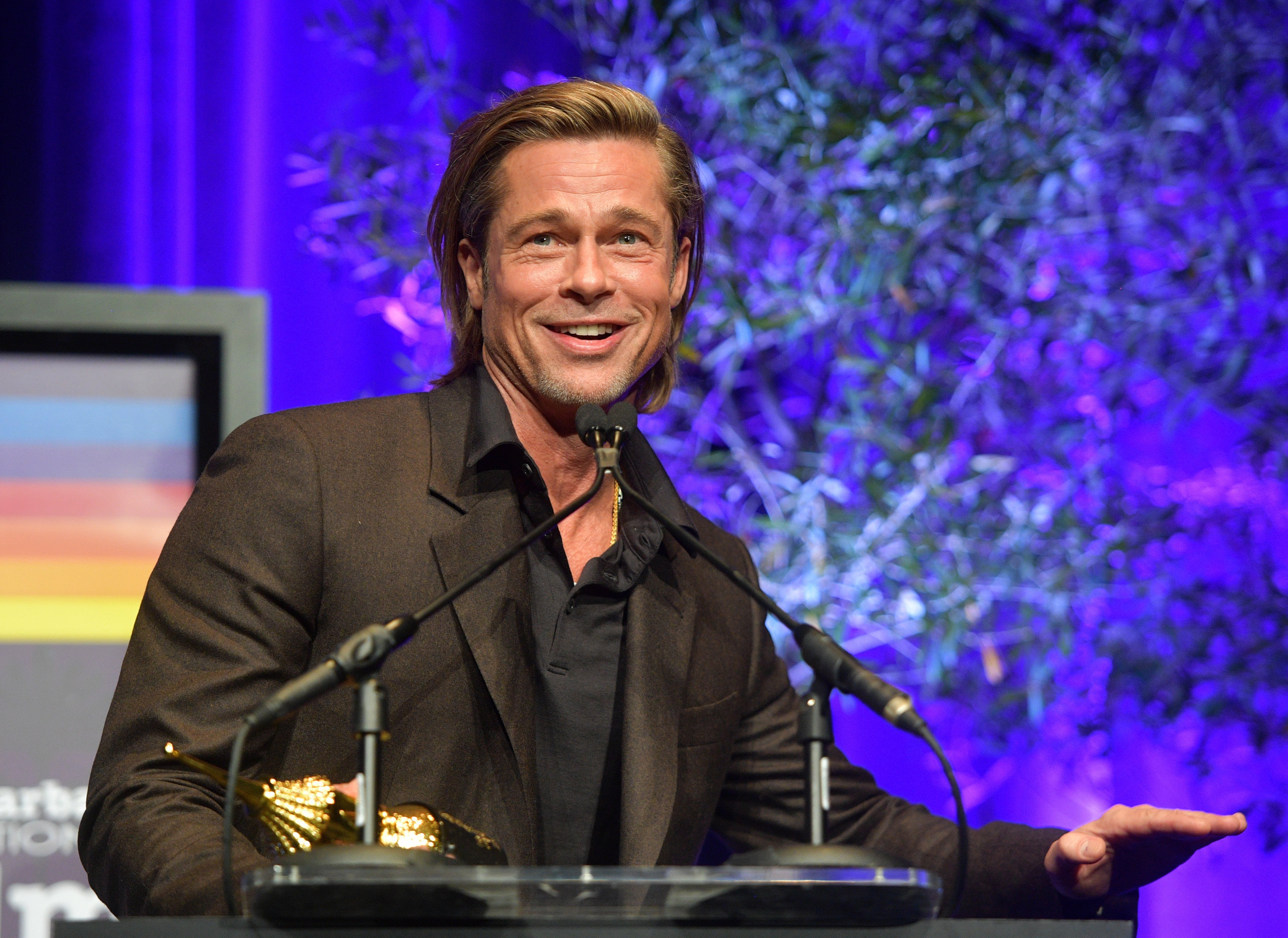 Brad Pitt speaks onstage at the Maltin Modern Master Award Honoring Brad Pitt during the 35th Santa Barbara International Film Festival at the Arlington Theatre on January 22, 2020 | Photo: GettyImages