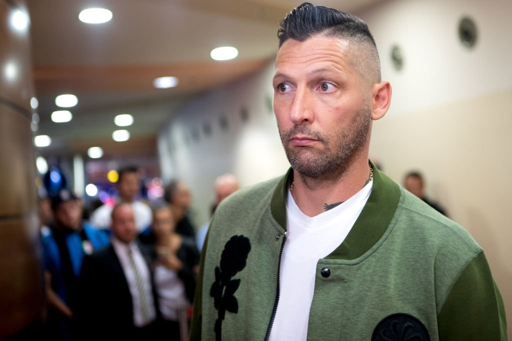 Marco Materazzi, du Portugal, assiste au match international de football caritatif à Bilje 2018 à Nova Gorica Perla, en Slovénie, le 1er septembre 2018 | Photo : Getty Images