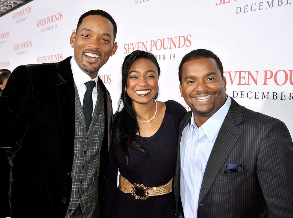 """Will Smith, Tatyana Ali and Alfonso Ribeiro arrive at the premiere of Columbia Pictures' """"Seven Pounds"""" held at Mann's Village Theatre on December 16, 2008 