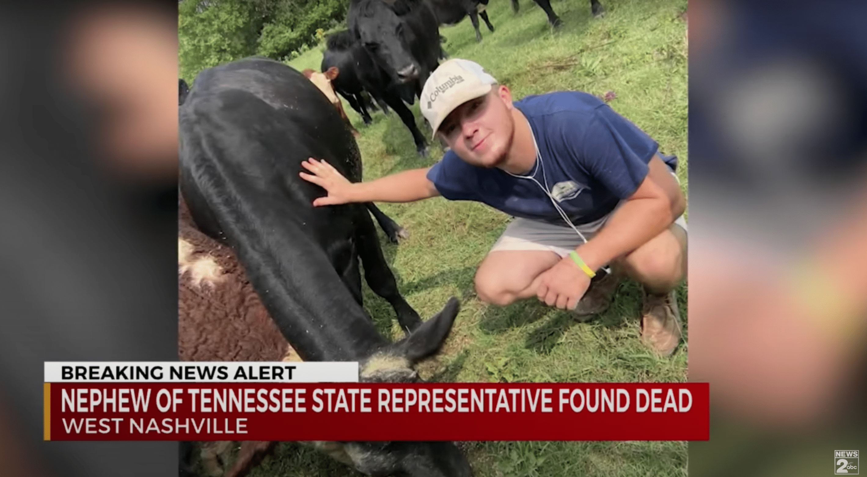 A young man who was killed is pictured prior to his death as he pets a wild animal | Photo: Youtube/WKRN News 2