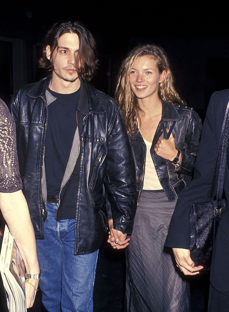 """Johnny Depp and model Kate Moss attend the Richard Tyler's New Fashion Collection and Screening of Johnny Depp's Directorial Debut of Short Film """"Banter."""" 