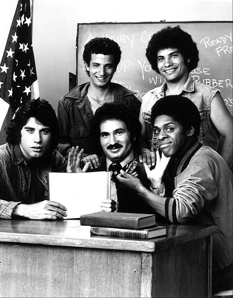 "Main cast photo from the television program ""Welcome Back, Kotter."" 